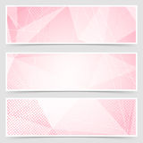 Red crystal structure abstract header set Stock Photo