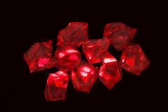 Red crystals Royalty Free Stock Image