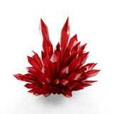 Red crystals Royalty Free Stock Images