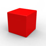 Red cube Royalty Free Stock Image