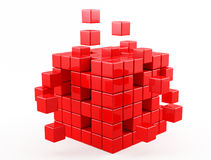 Red cube Royalty Free Stock Photos