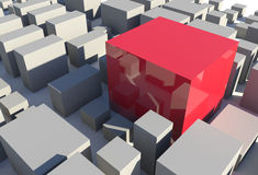 Red Cube Royalty Free Stock Images