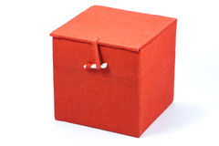 Red cube box Royalty Free Stock Photo