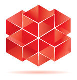 Red cube design. For business artwork Royalty Free Stock Photos