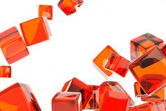 Red cube Royalty Free Stock Photography