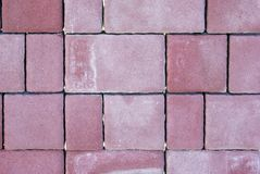 Red cube paving stone Royalty Free Stock Image