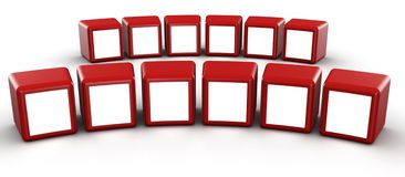 Red cube photo frame gallery concept Royalty Free Stock Image
