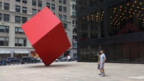 Red Cube Stock Photo