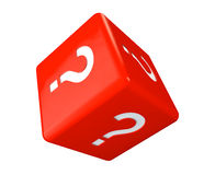 Red cube with question marks Royalty Free Stock Image