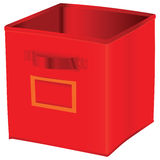 Red cube storage Royalty Free Stock Image