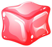 Red cube on white Stock Image
