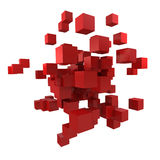 Red cubes Stock Images