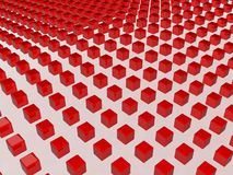 Red cubes Royalty Free Stock Photography