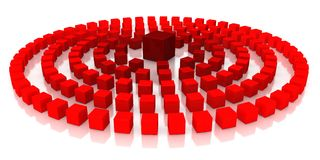 Red cubes. On a white background Royalty Free Stock Image