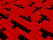 Red cubes background Royalty Free Stock Photos