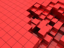 Red cubes background. Abstract 3d illustration of red cubes background Royalty Free Stock Photography