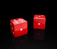Cube. Red cubes on black background royalty free illustration
