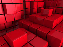 Red Cubes Blocks Abstract Background. 3d Render Illustration vector illustration