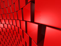 Red Cubes Blocks Abstract Wall Background. 3d Render Illustration royalty free illustration