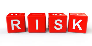Red Cubes Blocks with Risk sign Royalty Free Stock Photos