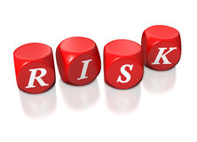 Red cubes illustrating risk. Red cubes denoting the concept of risks Royalty Free Stock Images