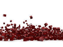 Red cubes isolated on white background Stock Image