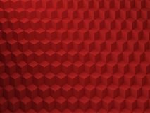 Red Cubes pattern, 3d render illustration Royalty Free Stock Images