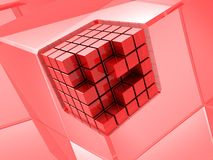 Red cubic Stock Images
