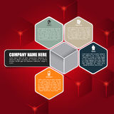 Red cubic  background for brochure or web Royalty Free Stock Photos