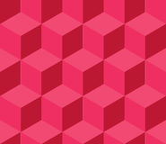 Red cubic seamless pattern Royalty Free Stock Images