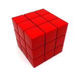 Red cubic structure Royalty Free Stock Photos