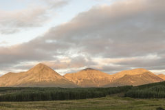 Red Cuillin at Glen Brittle on the Isle of Skye. Red Cuillin at Glen Brittle on the Isle of Skye in Scotland Stock Photo