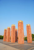 Red cultural pillar Royalty Free Stock Images