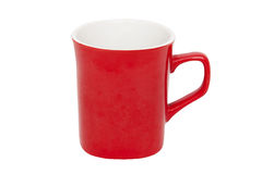Red cup. On the white background stock photography