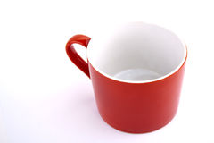 Red cup. Isolated on white Royalty Free Stock Photography