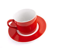 Red cup. Isolated on white Royalty Free Stock Photo
