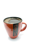 Red cup of black coffee Royalty Free Stock Photography
