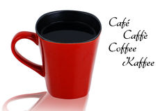 Red cup with black coffee Royalty Free Stock Photos