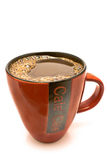 Red cup of black coffee Stock Image