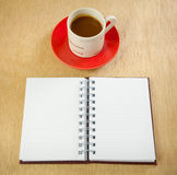 Red cup and book Royalty Free Stock Photography