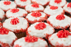 Red cup cakes Stock Photos