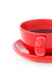 Red cup of coffe Stock Image