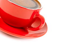 Red cup of coffe Stock Photo