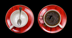 Red cup of coffee Stock Images