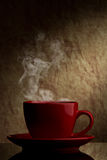 Red cup of coffee Royalty Free Stock Image