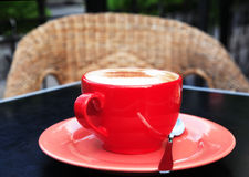 Red cup from coffee Royalty Free Stock Photo