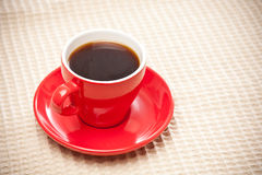 Red cup of coffee Royalty Free Stock Images