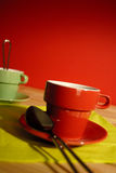 Red cup of coffee Stock Photo