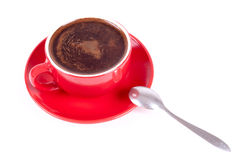 Red cup of coffee Stock Photos