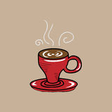 Red cup coffee Royalty Free Stock Photos